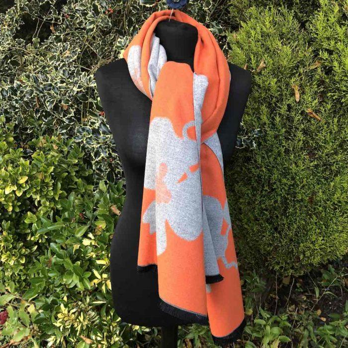 orange abstract wrap