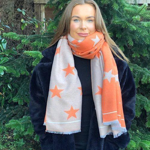 Cashmere Blend Star Shawl,Wrap,Scarf