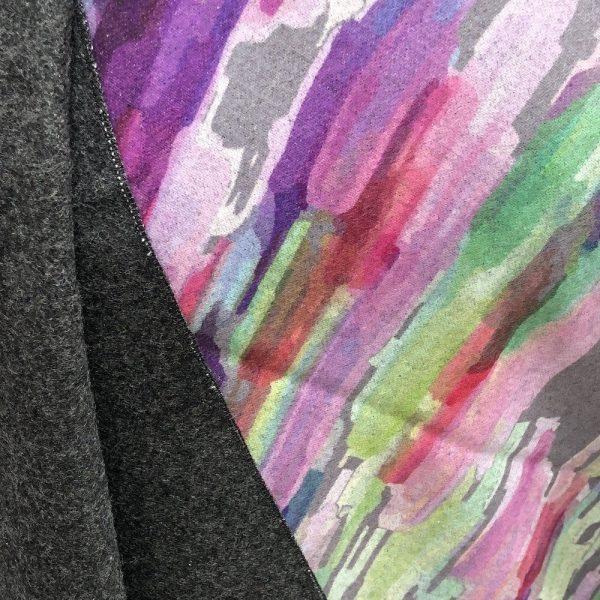 photo of design on multicoloured wrap