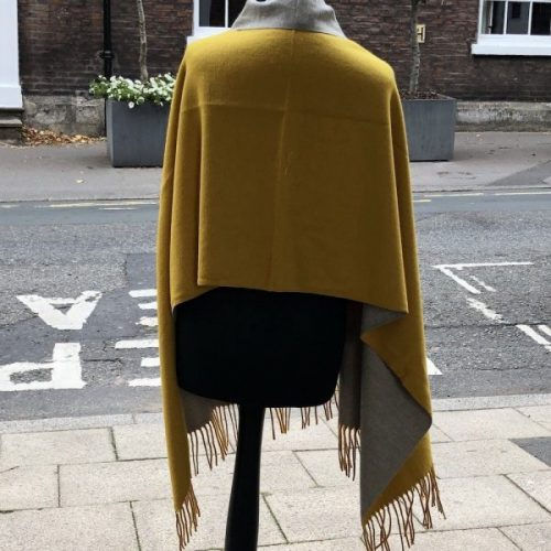 Cashmere Blend Plain Two Colour Reversible Scarves or Wraps
