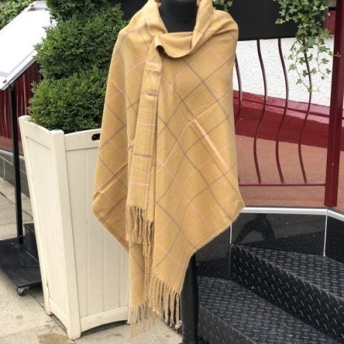 Tartan Cashmere Wrap/ Scarf