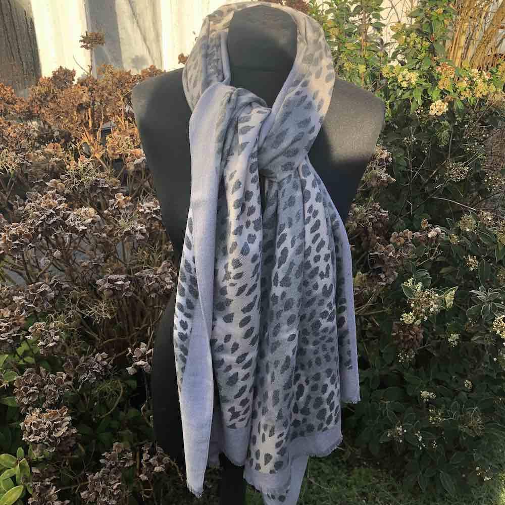 Cashmere Blend Animal Leopard Print Scarf