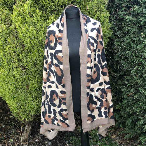 Cashmere Blend Animal / Leopard Print Scarf.