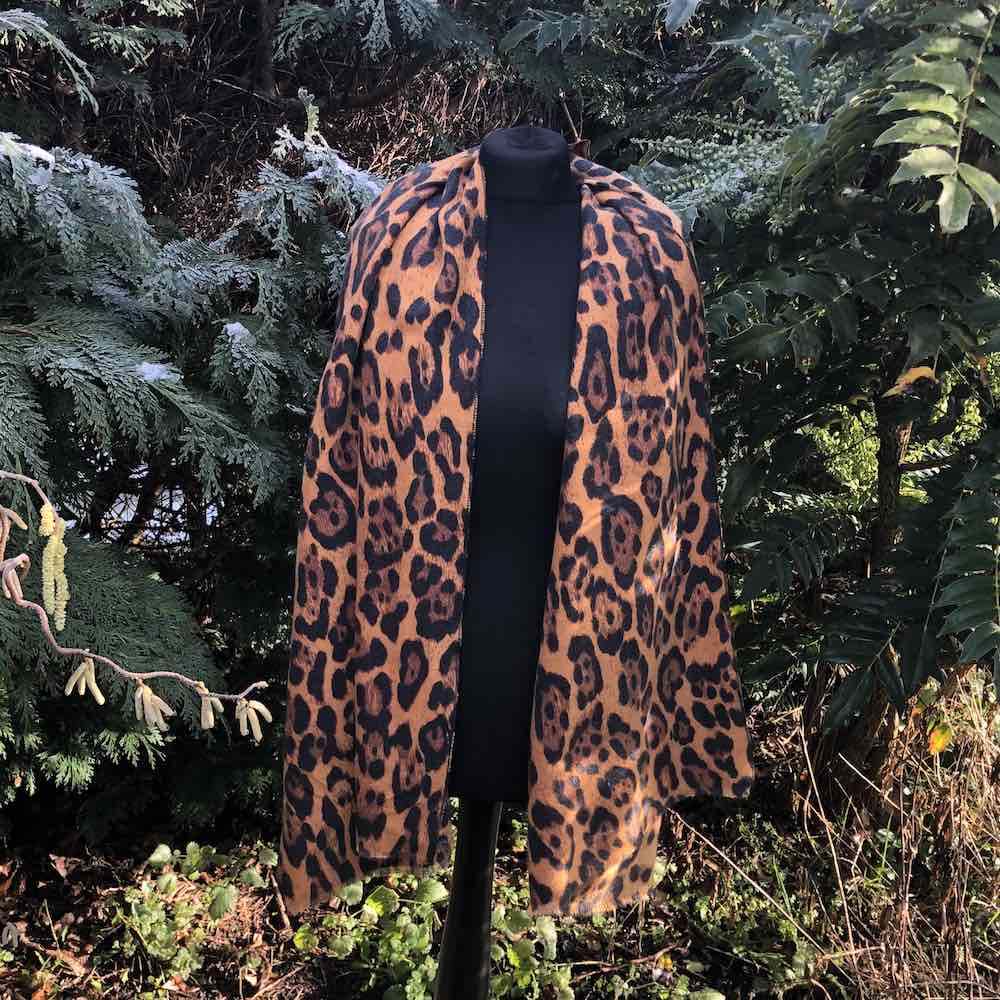 leopard animal print scarf