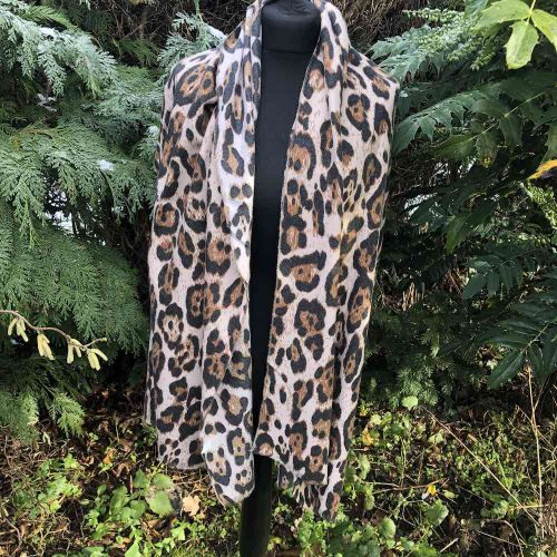Leopard Animal Print Scarf