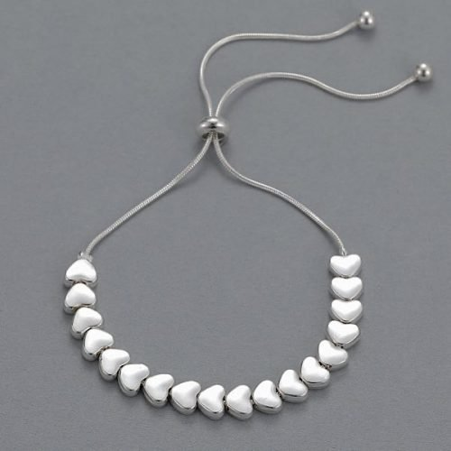 String of Hearts Sliding Clasp Bracelet