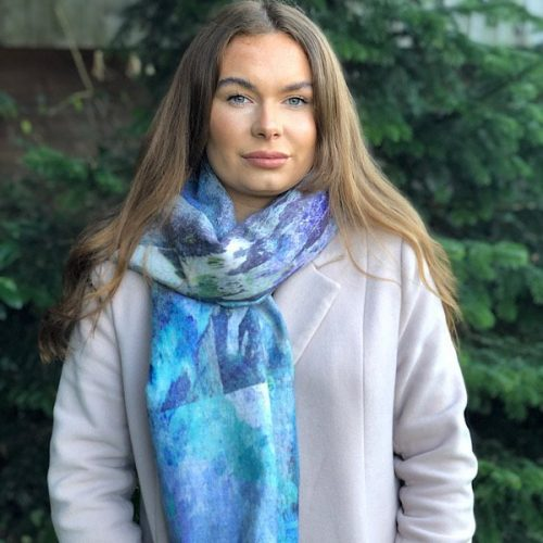 Blue Water Cashmere Blend Luxury Wrap