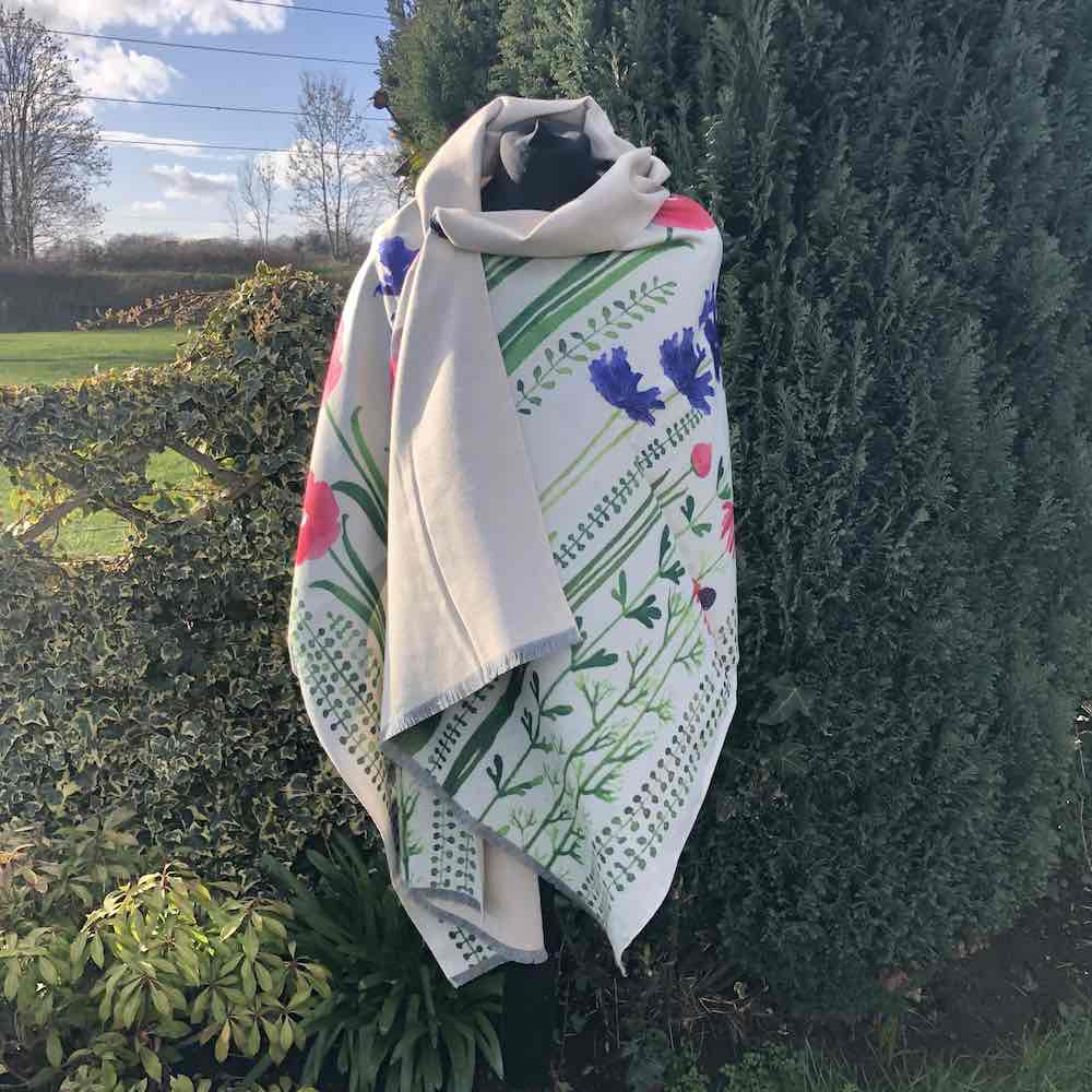 Cashmere Blend Wild Garden Luxury Wrap