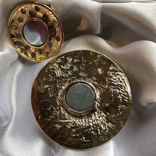 Rose Gold Tones Magnetic Brooch