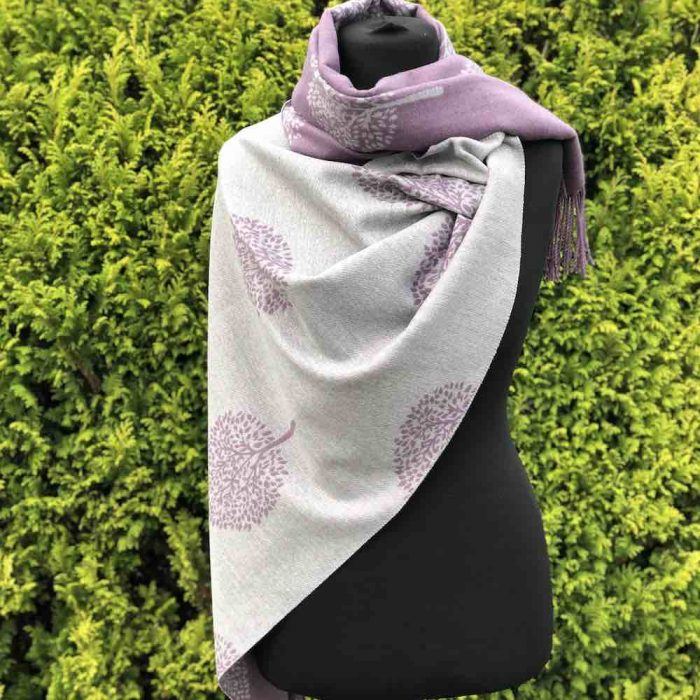 Tree of Life Cashmere Blend Reversible Scarf