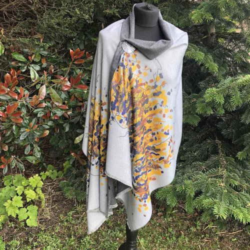 Firework Zelly Cashmere Blend Luxury Wrap /Scarf