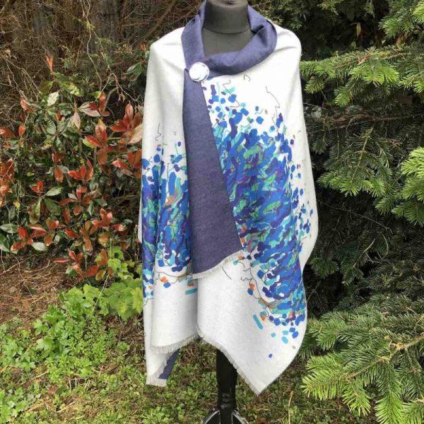 Zelly Firework Design luxury cashmere wrap