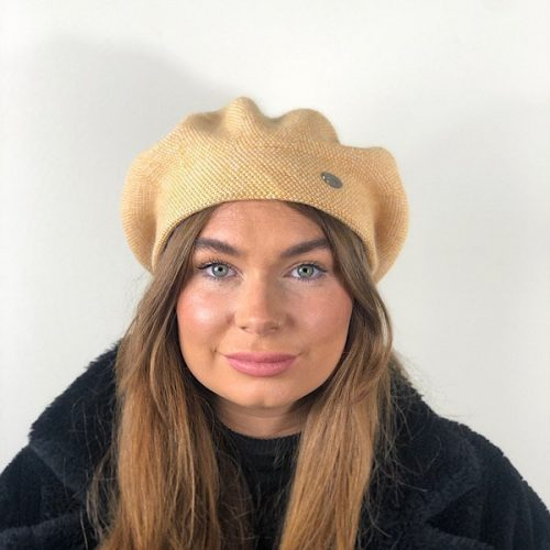 Trendy Cashmere Mustard Double Blend Thickness Hat