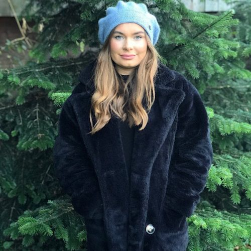 Trendy Cashmere Blend Double Thickness Hat