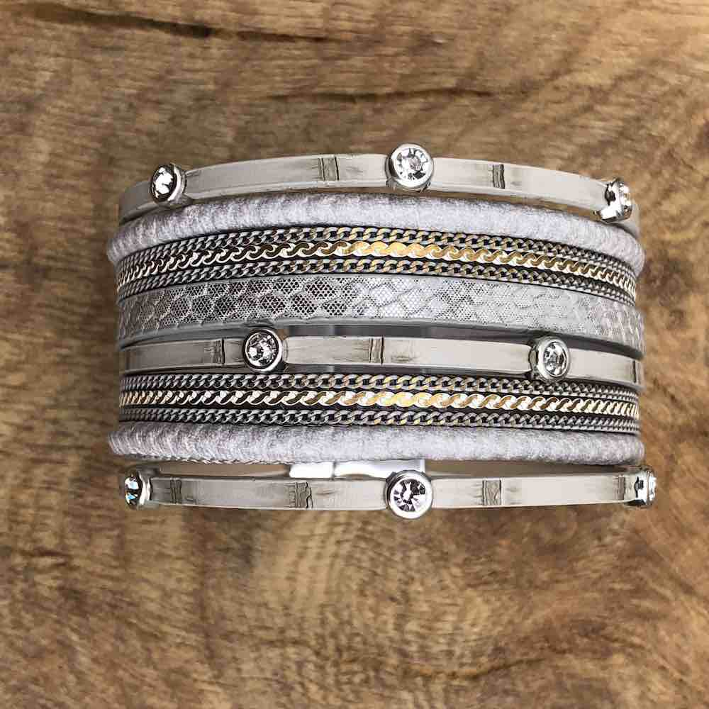 grey cuff with detail