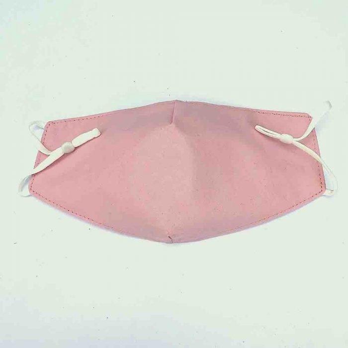 plain pink cotton face mask