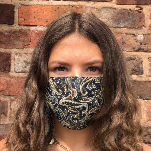 Paisley Design Hand Made Cotton Face Mask