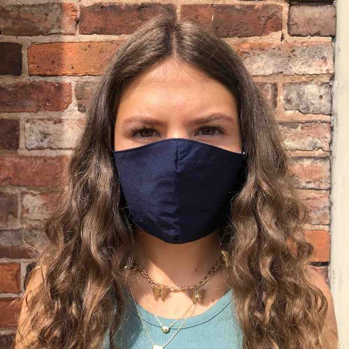 Navy Ladies/Mens Cotton Face Mask