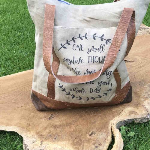 Vintage Canvas Recycled Shopping bag