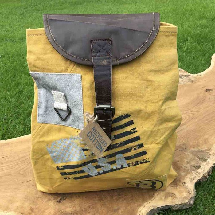fun canvas vintage back pack