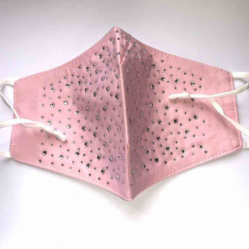 Sparkly Pink Adjustable Cotton Facemask Facecovering