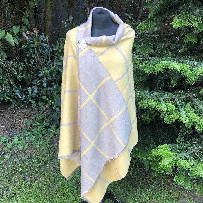 mustard beige reverible wrap