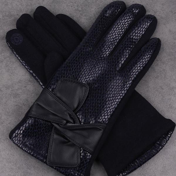 black faux snake skin gloves