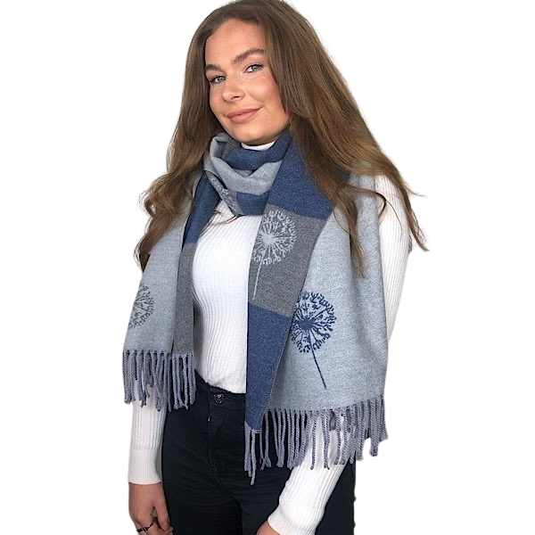grey dandelion scarf