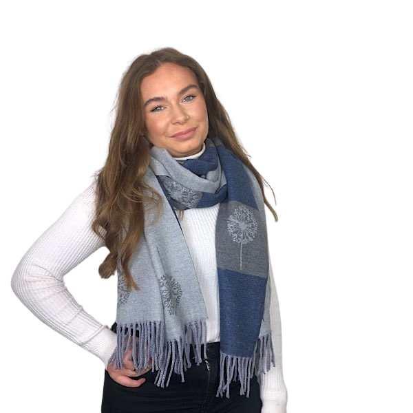 grey dandelion reversible scarf