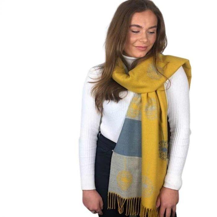 mustard dandelion scarf