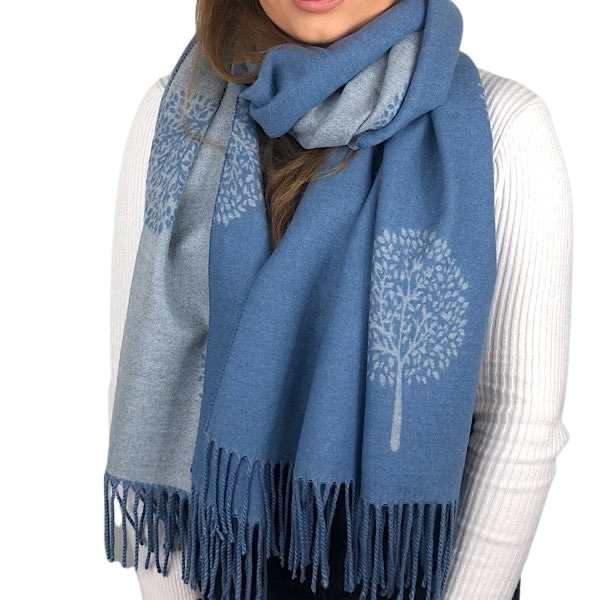 blue mulberry scarf