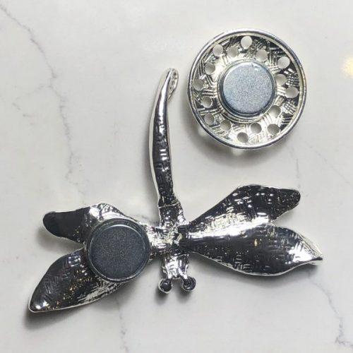 Grey Dragonfly Magnetic Brooch