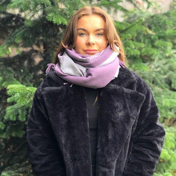 mulberry purple scarf