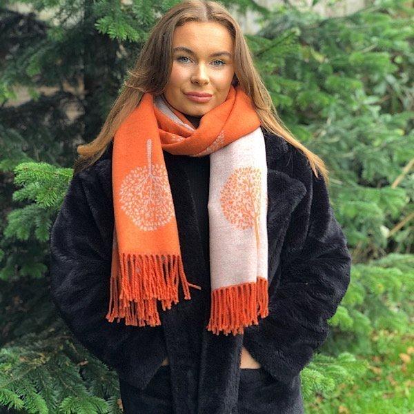 orange mulberry scarf