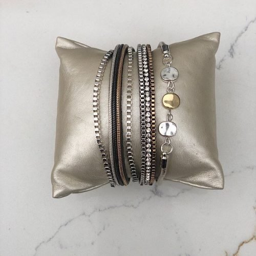 Multistrand Tri Coloured Bracelet.