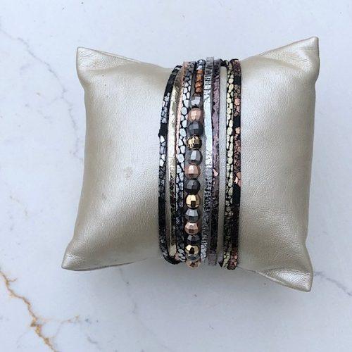 Beaded Multistrand Magnetic Bracelet