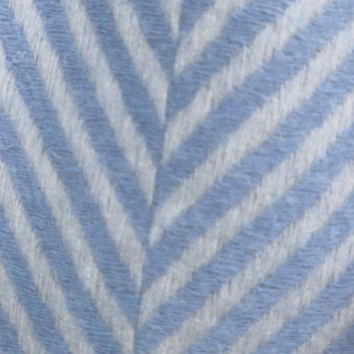 Herringbone Cashmere Blend Blue and Cream Tassled Scarf