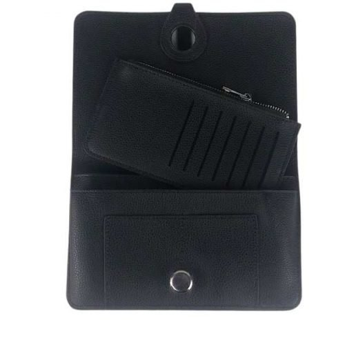 Black Classic Grain Purse or Wallet