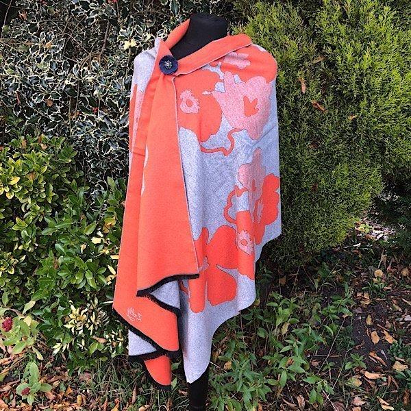 Orange abstract flowerwrap