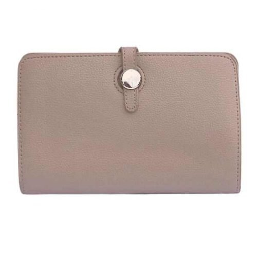 Beige Classic Grain Purse or Wallet