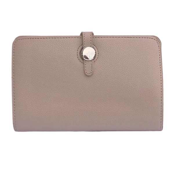 Beige classic grain purse
