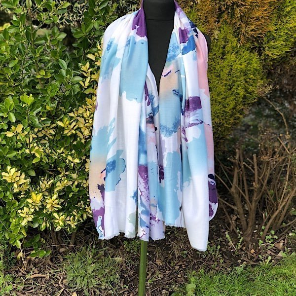 Abstract Purple Floral scarf
