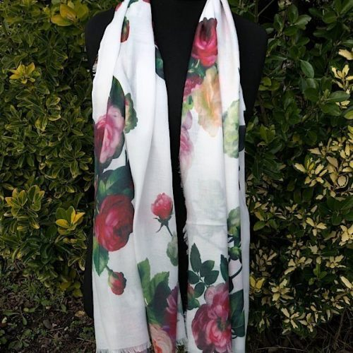 Wild Roses Floral Scarf