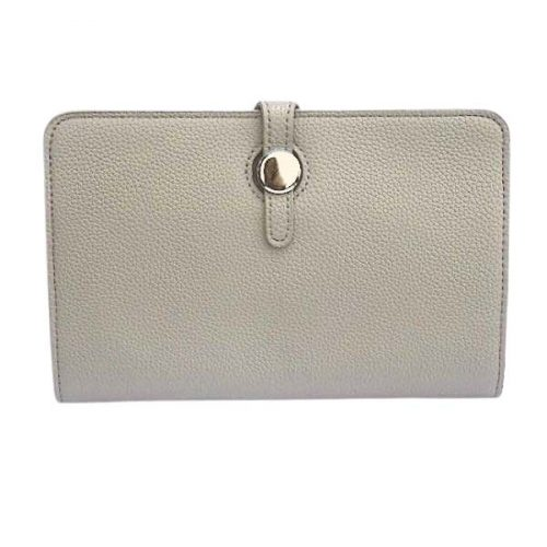 Grey Classic Grain Purse or Wallet
