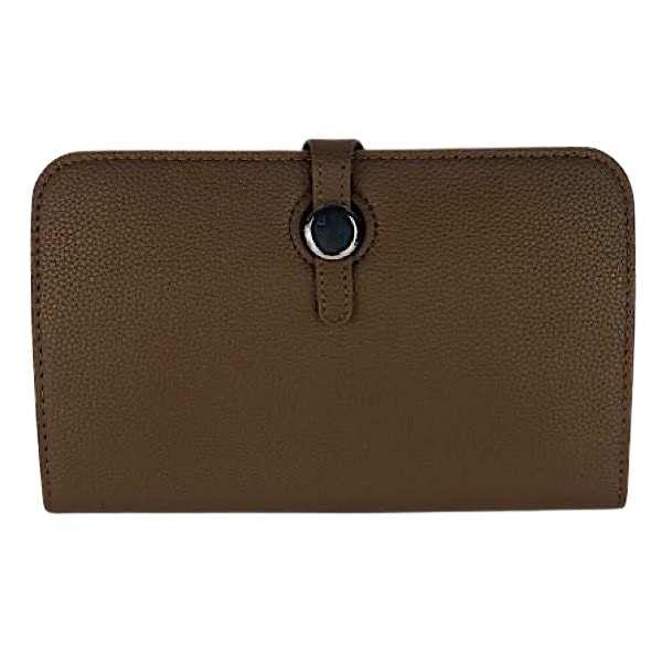 Mid brown classic grain wallet
