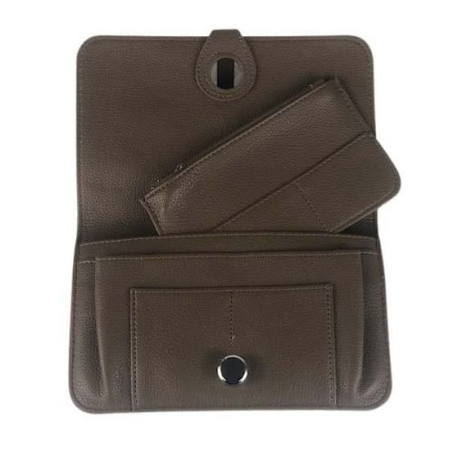 Mid Brown Classic Grain Purse or Wallet