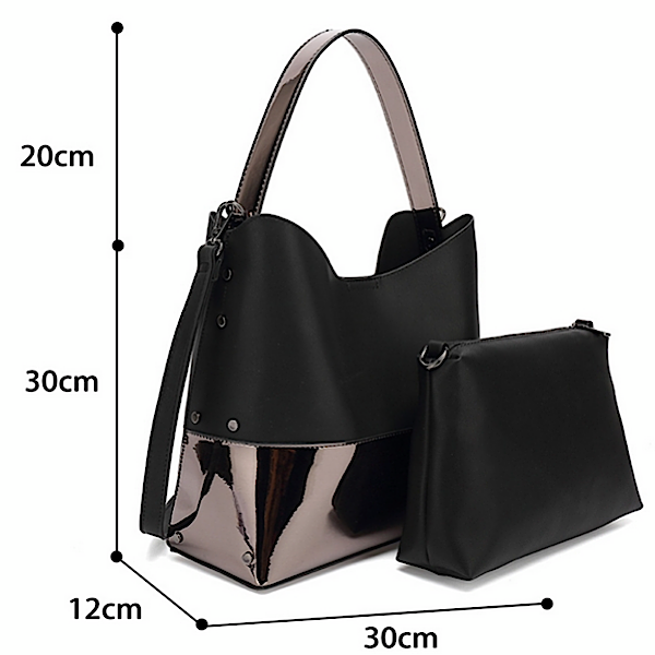 Size of black slouch bag