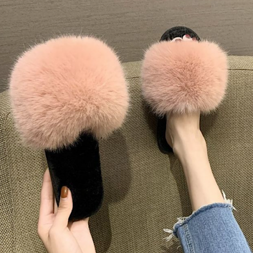 Fluffy Pink Slippers