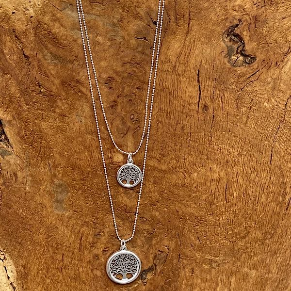 Reverse of tree of life necklace