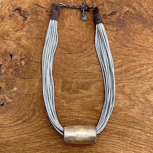 Grey Silk Cord Necklace